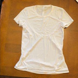 White Lululemon short sleeve shirt